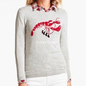 "NWT Talbots ""Santa Claws"" Holiday Lobster Sweater"
